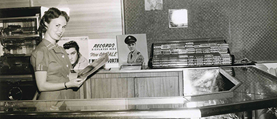 Elvis Records Sold at the Concession Stand 1950s