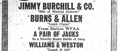 Burns & Allen Apperance 1927