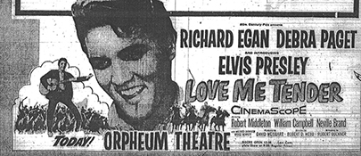 Movie Advertisement December 1956