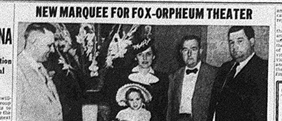 Iconic Orpheum Marquee installed 1940