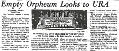Orpheum Goes Dark February 1978