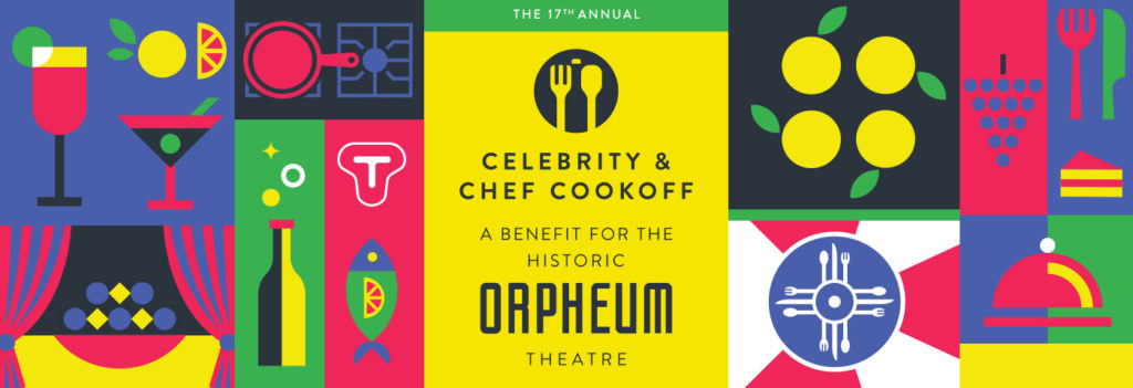 Celebrity Chef Cookoff Wichita Kansas KS Orpheum Theatre Theater Cooking Competition Fundraiser Benefit